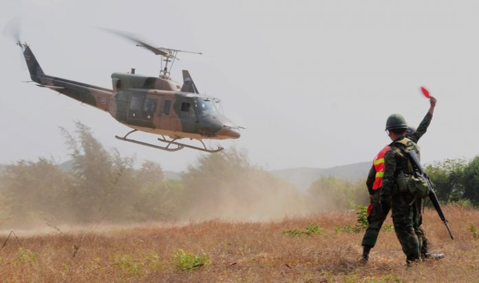 Thai Bell 212 helicopter