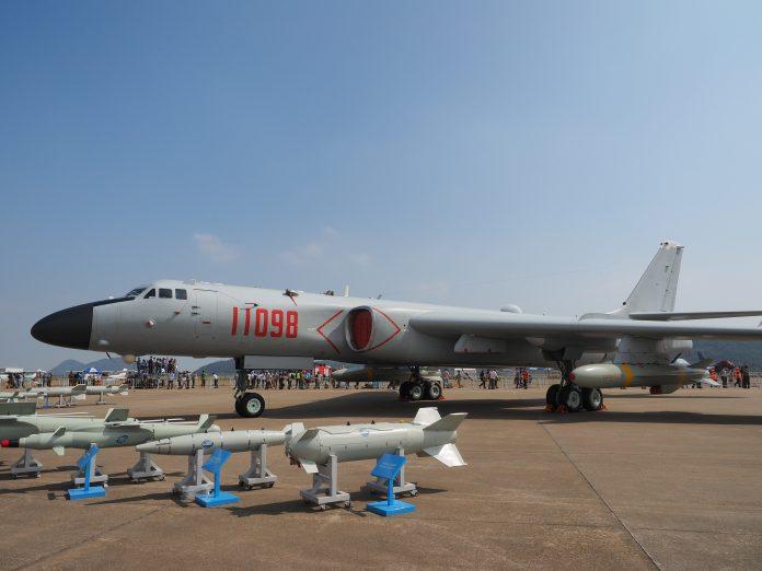 The H-6K variant of China's main strategic bomber.