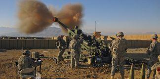 M777 155mm howitzers