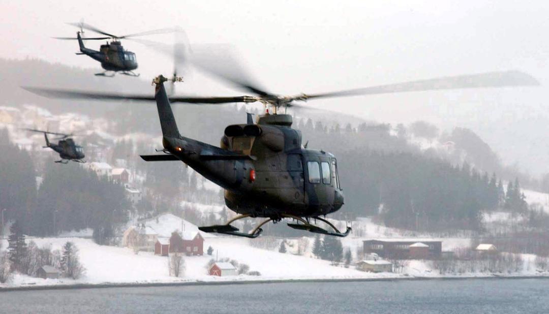 Bell 412 aircraft