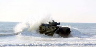 AAV7A1 Marines hit the water