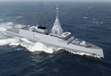 French Navy frigate