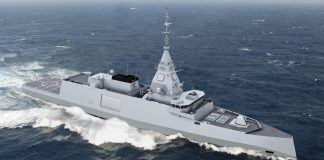 French Navy frigate