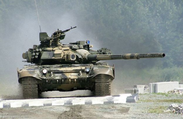 T-90 main battle tanks