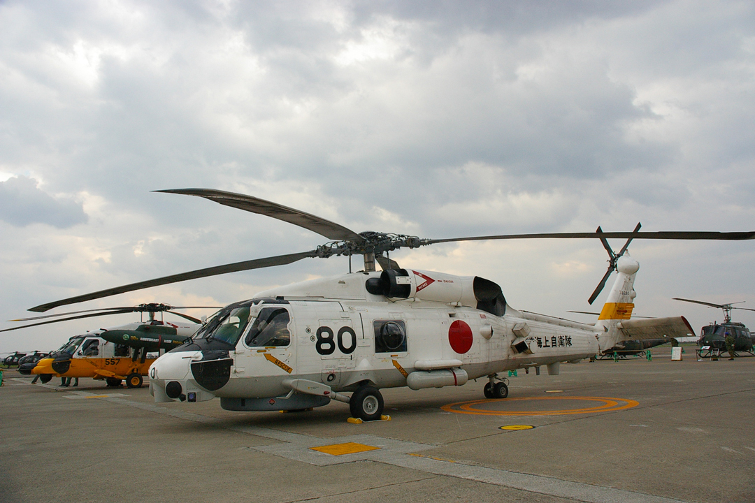 JMSDF's SH-60J maritime support helicopters