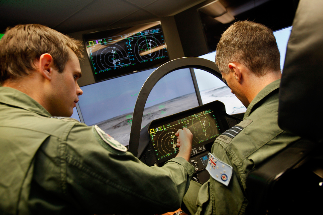 The cockpit display of the F-35A