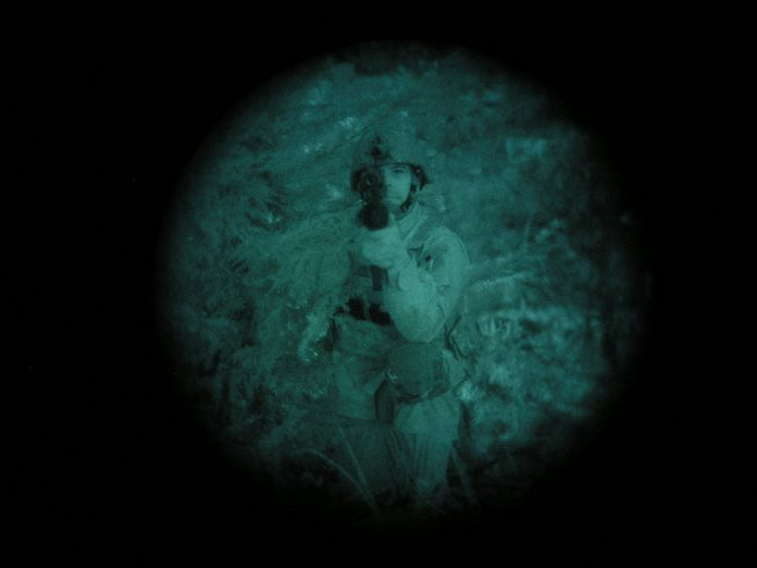 NVGs produce a green picture