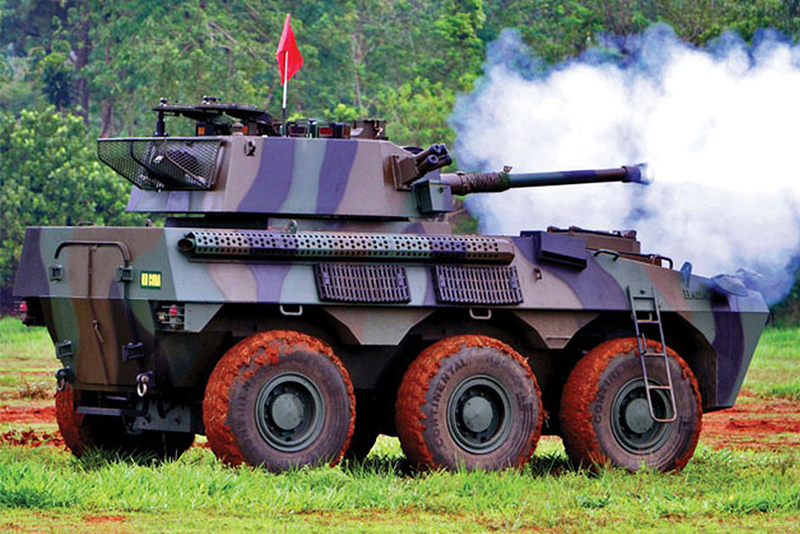 Indonesia's Badak 6x6 armoured fire support vehicle