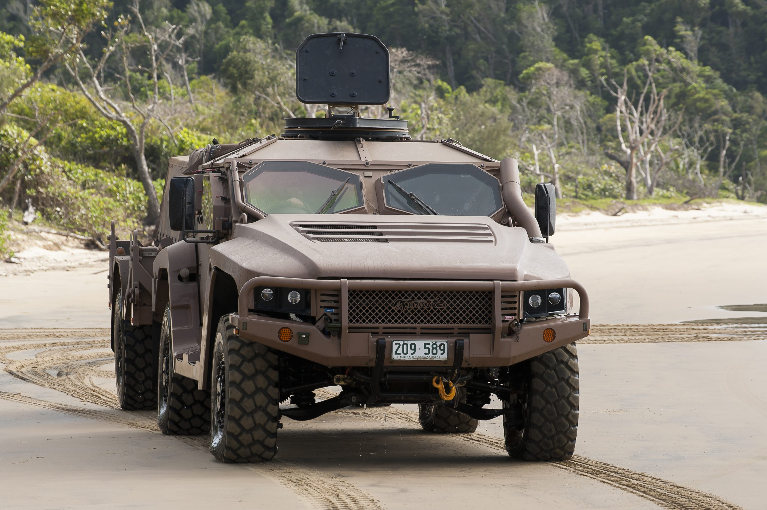The Hawkei protected vehicle is an Australian design by Thales.