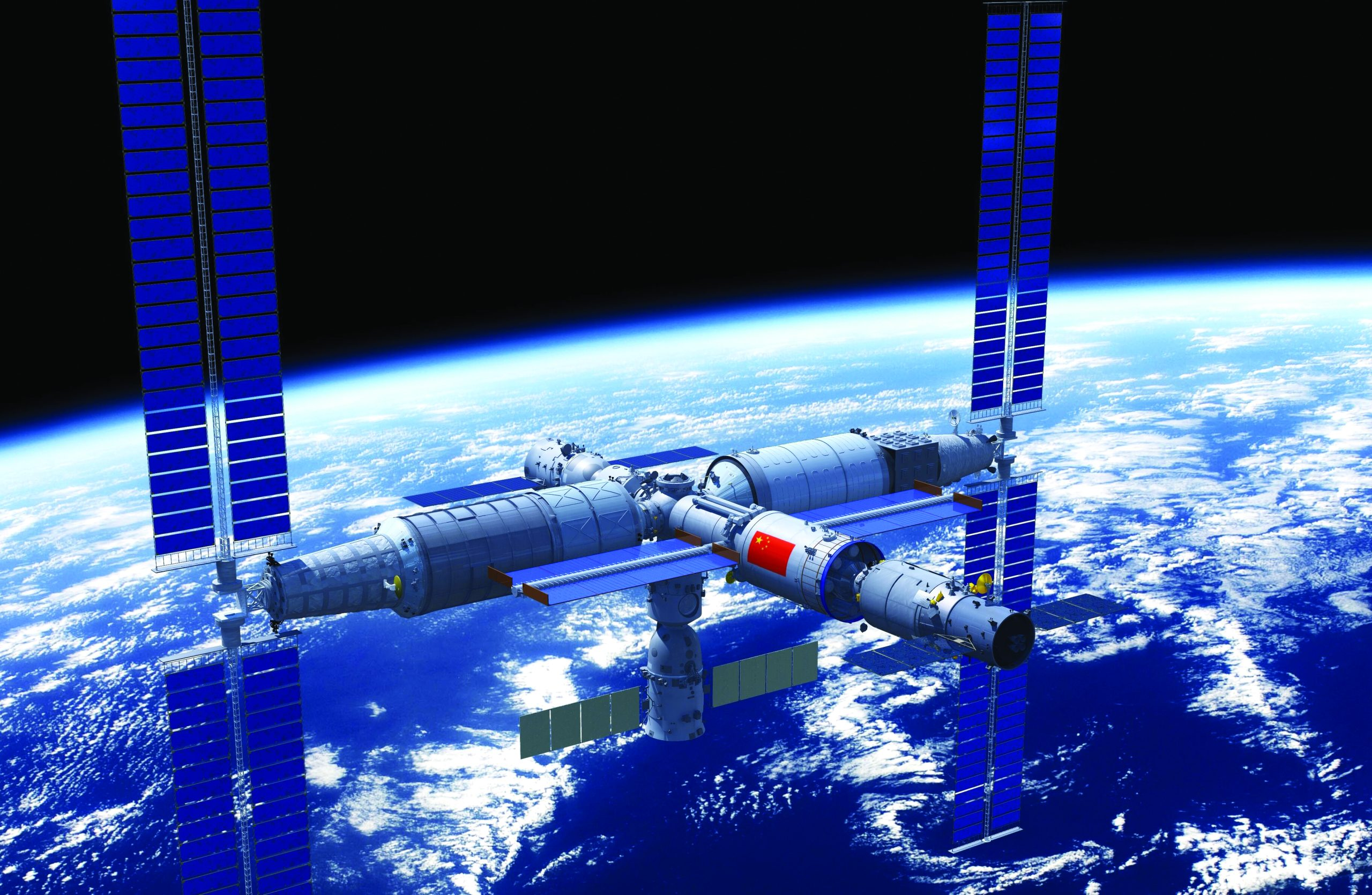 An artist's impression of the Chinese Tiangong space station. (CMSA)