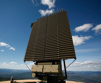 Two AN/FPS-117 radars
