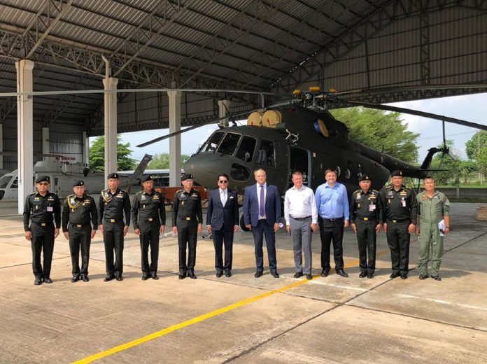 Delivery of new helicopters -- Russian Embassy Thailand