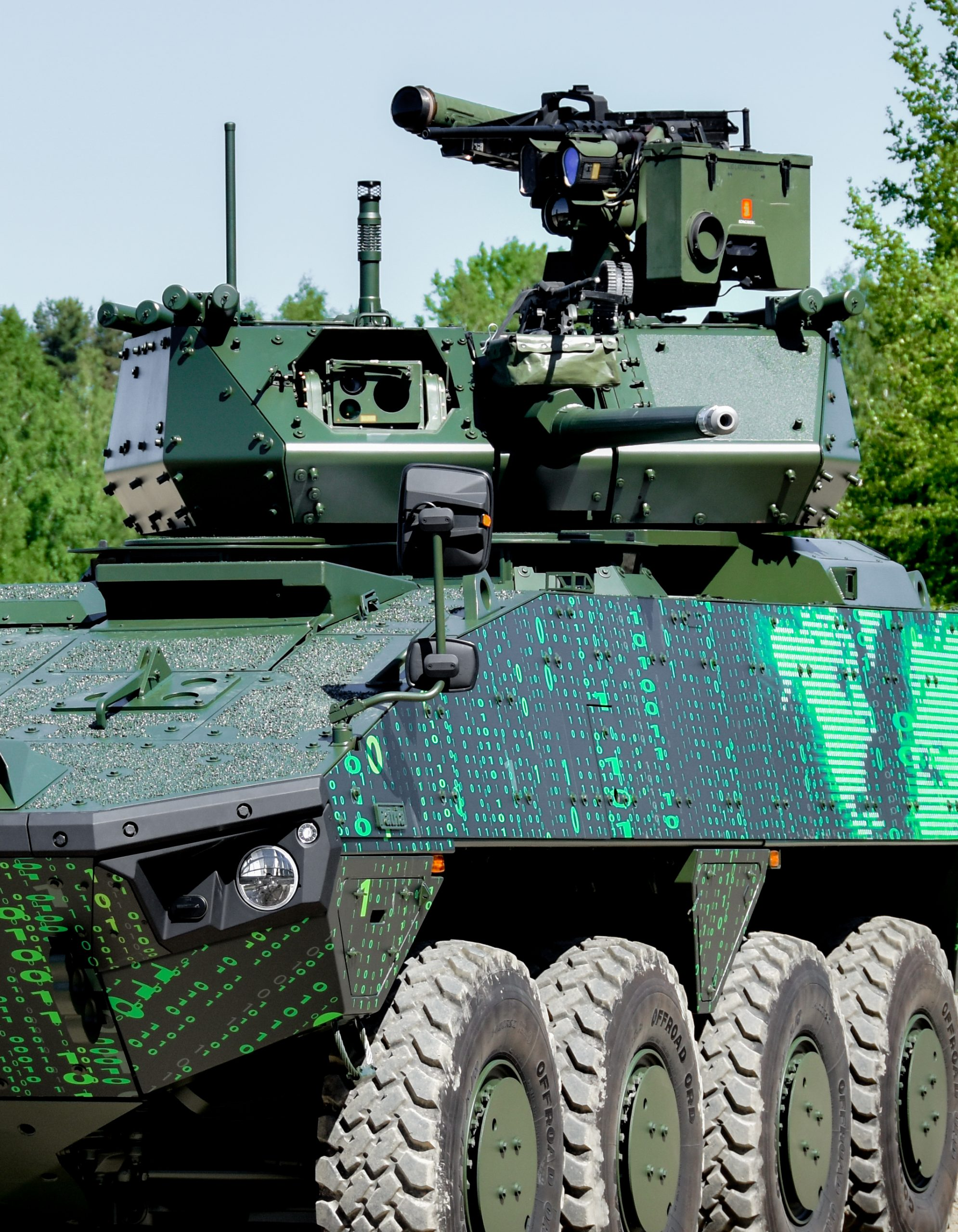 Patria AMV XP (8x8) fitted with Kongsberg Remote Controlled Turret