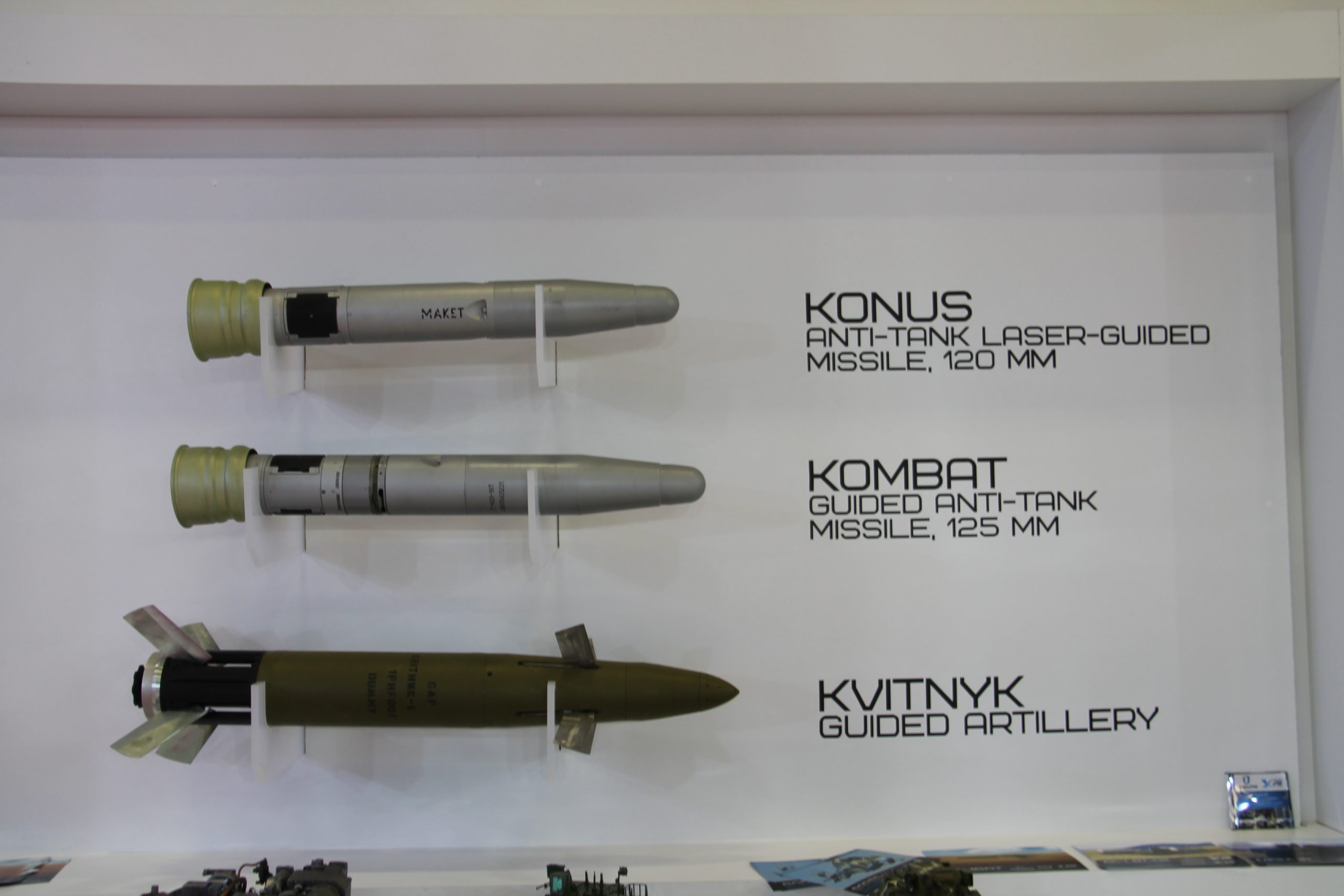 The Ukraine has developed a number of guided projectiles