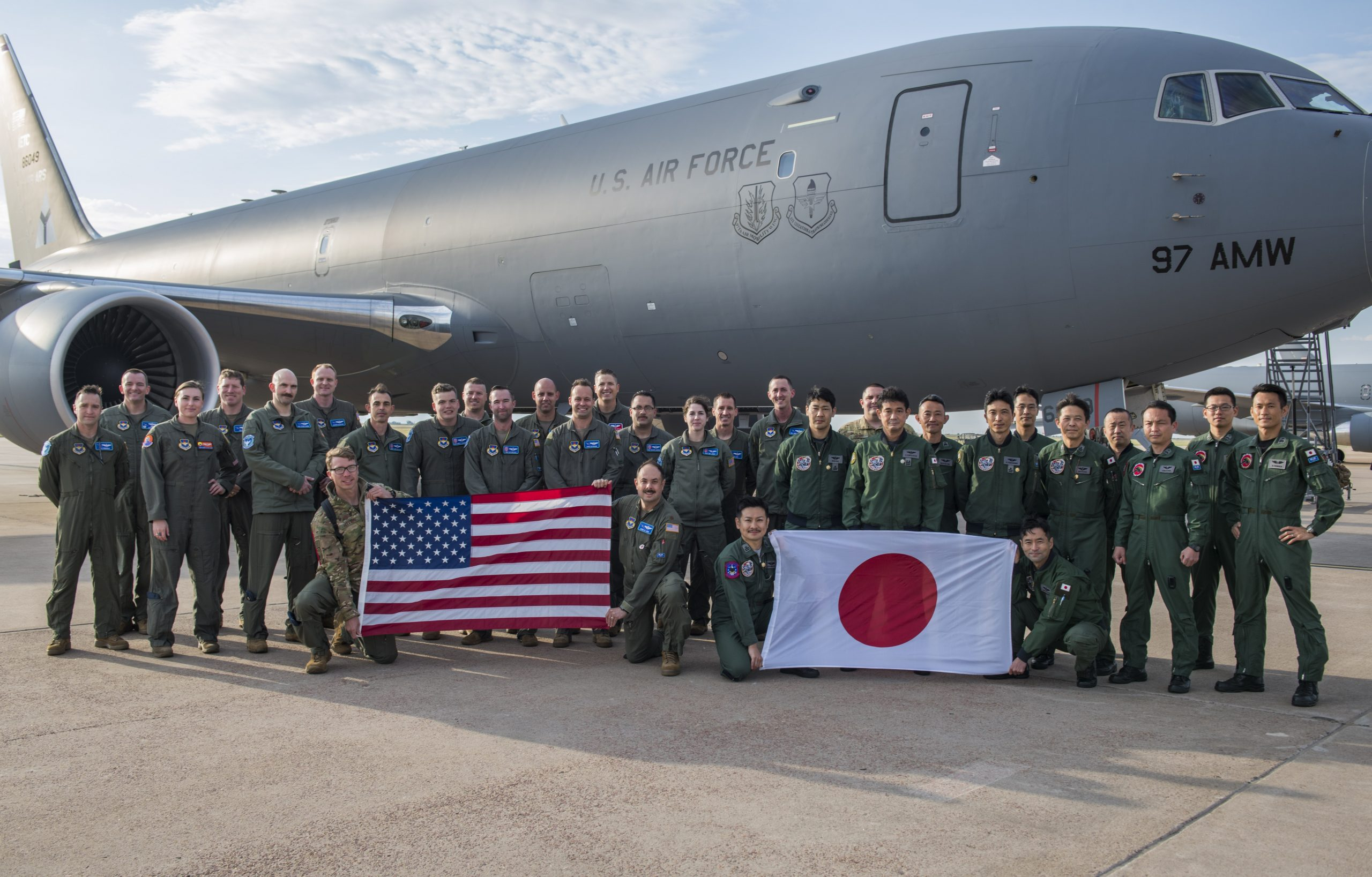 Japan receives KC-46A Pegasus tanker training in the United