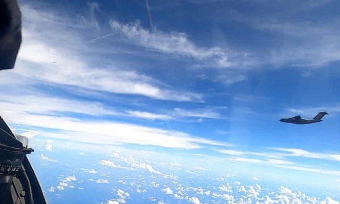 PLAAF Y-20 near Malaysia -- RMAF
