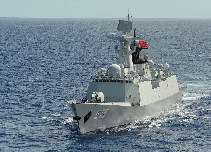 China's Type 054A class frigate PLA (N) Yueyang (FF 575).