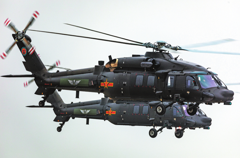 Distinctly similar to the Black Hawk helicopter, the Z-20 medium lift helicopter produced by Harbin Aircraft Industry Group now has a naval variant known as the Z-20F.